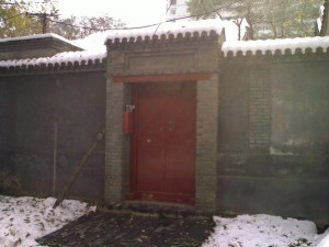 Snowy Chinese Doorway